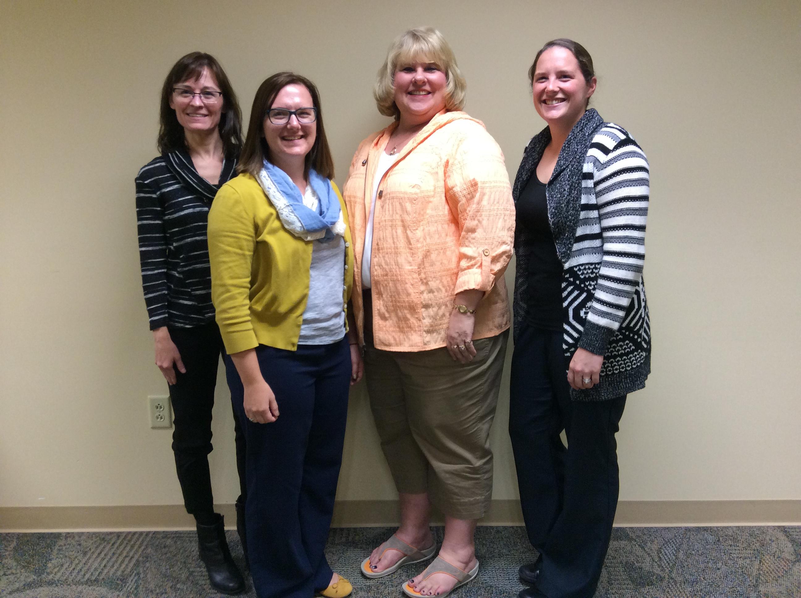(left to right) Mary Pelly, Alisha Tuttle, Sandra Knipe, Caitlyn Wright