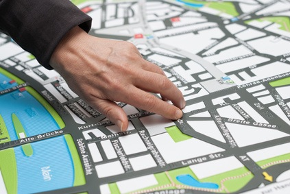 Tactile exploration of city map