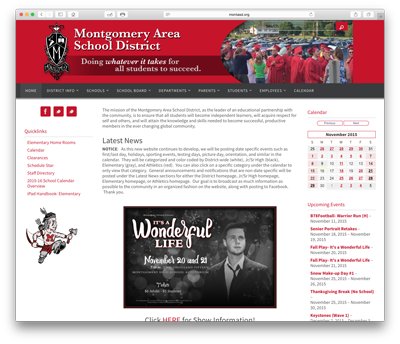 Montgomery School District Website