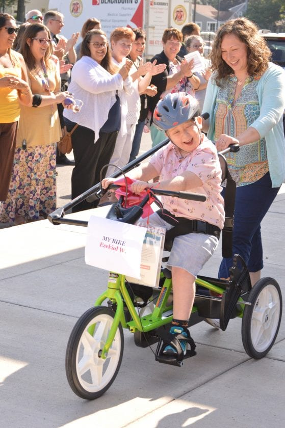Boy on adaptive Bike