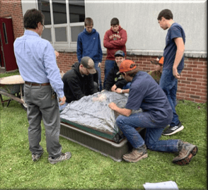 installing the raised beds